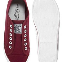 New Look Mexico Red Laceless Plimsolls at asos.com
