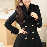Wholesale Black Double Breasted Fashion Coats : Wholesaleclothing4u.com