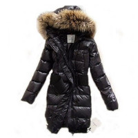 Moncler Lucie Women Pop Star Long Down Jacket Black