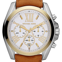 Michael Kors &#x27;Bradshaw&#x27;  Leather Strap Watch | Nordstrom