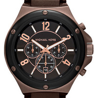 Michael Kors 'Rock Top' Chronograph Leather Strap Watch | Nordstrom