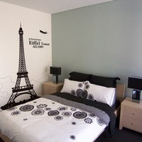 Eiffel Tower Wall Decals Wall Sticker Wall Art Vinyl Home Decor 40030