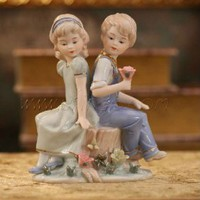 Boy and Girl Statue [UF-PHD076] - $47.00 : Buy Unique Craft Gifts From Best Online Shop, Ufingo