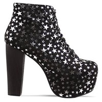 Jeffrey Campbell Lita in Black Suede Silver Star at Solestruck.com
