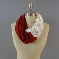 Beautiful Lace Infinity Scarf