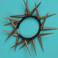 Spiked Hairband In Black & Bronze