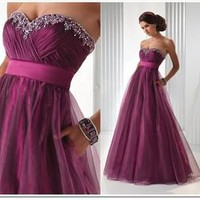 Hot~Stock Long Evening Party Bridesmaid Dress Formal Prom Dress Ball Gown SZ6-14