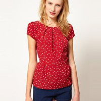 A Wear Polka Dot Blouse at asos.com