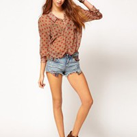 Free People Polka Dot Easy Rider Blouse at asos.com