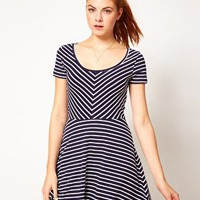 Vero Moda Striped Dress at asos.com