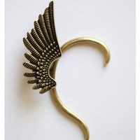 Gold Tone Wing Cuff Earring