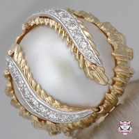 Vintage Rings - Vintage Mabe Pearl Ring