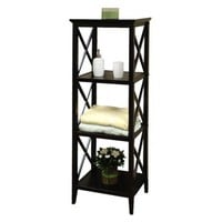 X-Frame Bathroom Towel Tower Shelf - Espresso