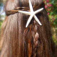 Starfish Hair Clip-Starfish Hair Accessory, Mermaids, Beach Weddings, Starfish Weddings, Starfish Themed Party, Ocean, Skinny Starfish