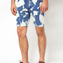 ASOS Denim Shorts With Bleach Splat at asos.com