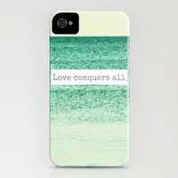 Love Conquers All iPhone Case by Caleb Troy | Society6