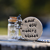 Never Stop Making Wishes  Necklace by artisticicing on Etsy