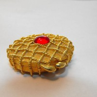 Jeweled Perfume Compact by Houbigant from giltygirlvintage on Ruby Plaza