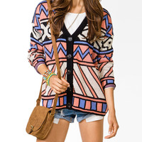 Oversized Geo Cardigan