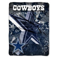 Dallas Cowboys NFL Micro Raschel Throw (Grunge) (46in x 60in)