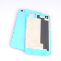 (GW) iPhone 4(AT&T) Back Cover Housing, iPhone 4(GSM) Only, Sky Blue Glass Battery Door, Replacemen