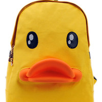 ROMWE | Patent Duck-shape Yellow Packsack, The Latest Street Fashion