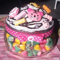 Pink Tiger Sweets Decoden Jar