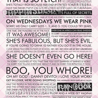 11x17 Mean Girls Quote Poster