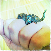 RABID FOX Oxidized Elephant Ring by Fleathers on Etsy