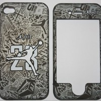 Licensed Jordan Air 23 Retro basketball Apple iPhone 4 Faceplate Hard Cell Protector Case Housing C