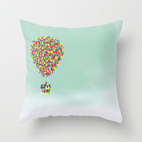 Up Throw Pillow by Derek Temple | Society6