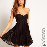 ASOS PETITE Exclusive Skater Dress In Lace at asos.com