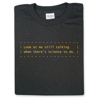 ThinkGeek :: Science To Do - Portal Shirt
