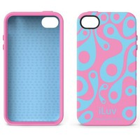 iLuv Aurora Glow-In-The-Dark Case for iPhone 4 - Pink/Blue