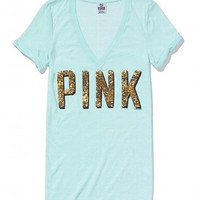 Sequin V-Neck Tee