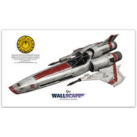 ThinkGeek :: Battlestar Galactica Viper Vinyl Wall Decal