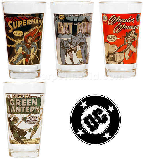 DC VINTAGE COMICS COVERS PINT PACK