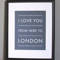 London Art Print, 8x10 on Luulla