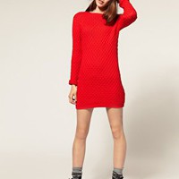 ASOS | ASOS Sweater Dress In Honeycomb Knit at ASOS