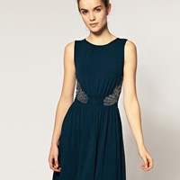 Warehouse | Warehouse Embellished Side Dress at ASOS