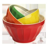 MIXING BOWLS SET OF 4 MULTI COLOUR - Kitchen & Dining - Well Considered - The Conran Shop UK