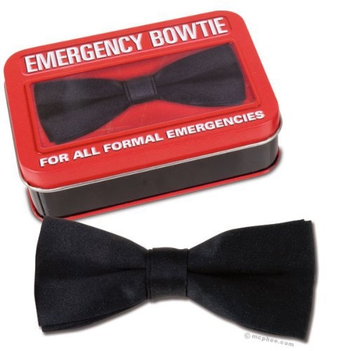 Emergency Silk Like Bowtie with Metal Attachment New