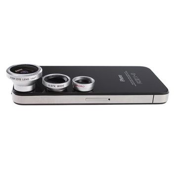 AGPtek 3 in 1 Camera Lens Kit for Apple iPhone 4 iPad