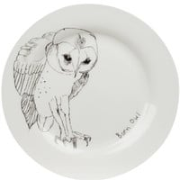Barn Owl Dinner Plate. Shop more plates in Kitchen and Dining at Liberty.co.uk
