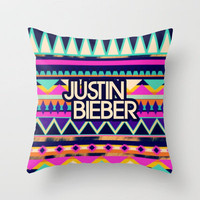 justin bieberrrrrrr Throw Pillow by Taylor St. Claire | Society6