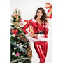 Lipper Tight Slim Trousers With Hooded Christmas Uniform Sexy Hot Cosplay Free Shipping