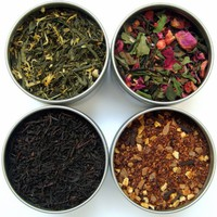 Heavenly Tea Leaves Tea Sampler Gift Set - 4 Bestselling Cans - Approximately 25 Servings of Tea Pe