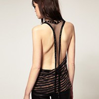 Religion | Religion Exclusive To ASOS Stripe Vest With Bead Back at ASOS