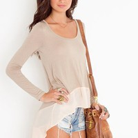Chiffon Tail Tee in  Clothes at Nasty Gal