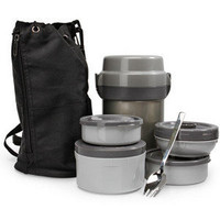 ThinkGeek :: Mr. Bento Stainless Lunch Jar